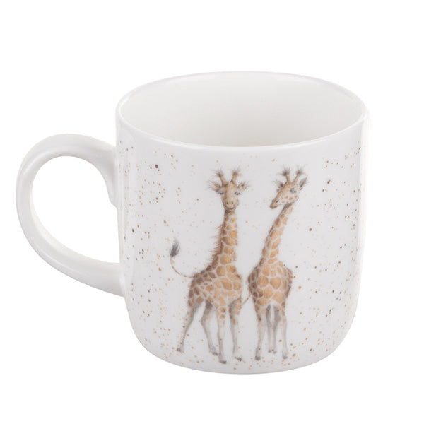 Royal Worcester Wrendale China Mug - First Kiss Giraffe