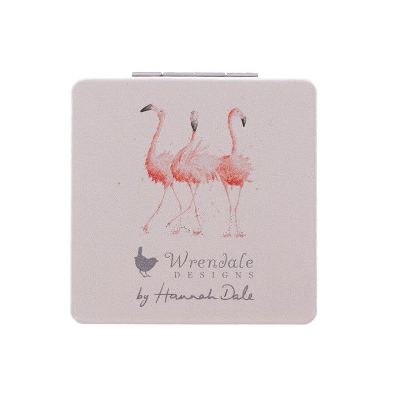 Wrendale Designs Pretty in Pink Compact Mirror - Flamingo