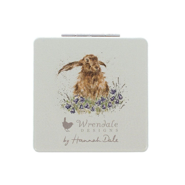 Wrendale Designs Hare-Brained Compact Mirror - Hare