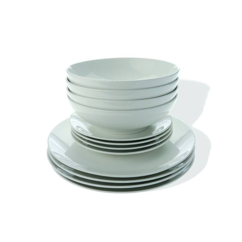 Maxwell & Williams White Basics 12 Piece Coupe Dinner Set