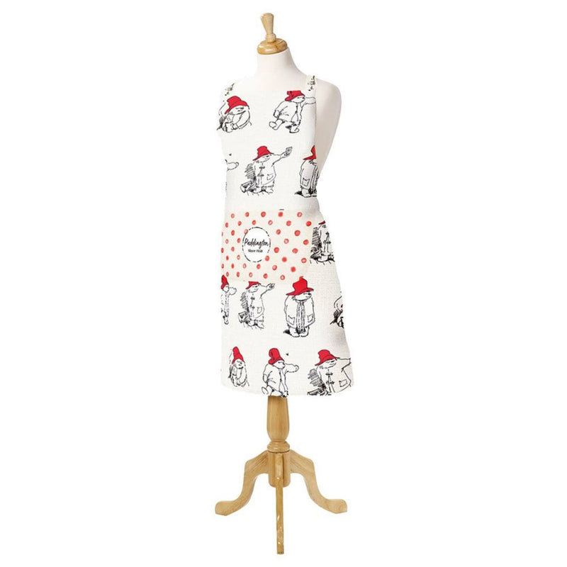 Paddington Bear Illustrated Cotton Adult Apron - Red