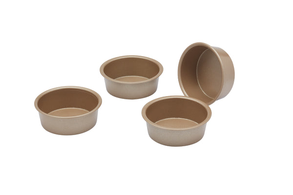 Paul Hollywood 4 Pack Mini 6.5cm Round Non-Stick Baking Tins