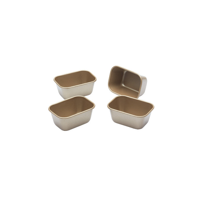 Paul Hollywood 4 Pack Mini 9cm Rectangle Non-Stick Loaf Tins
