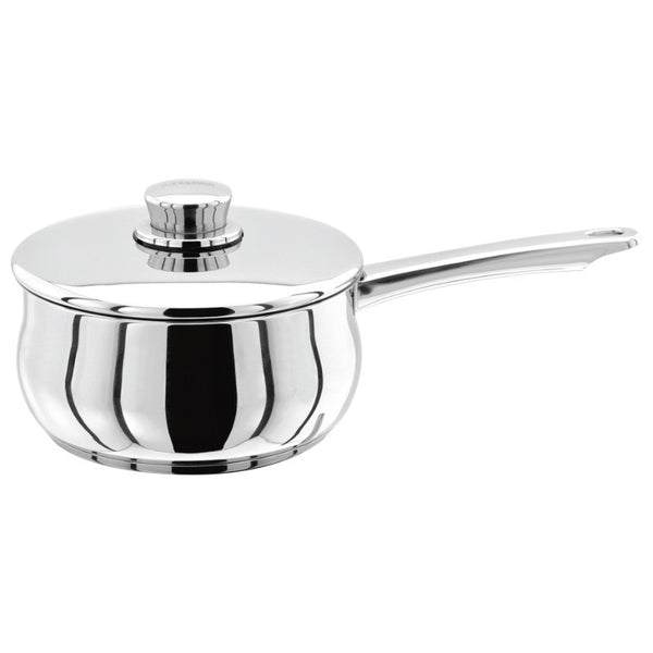 Stellar 1000 S104 Stainless Steel Saucepan With Lid - 14cm