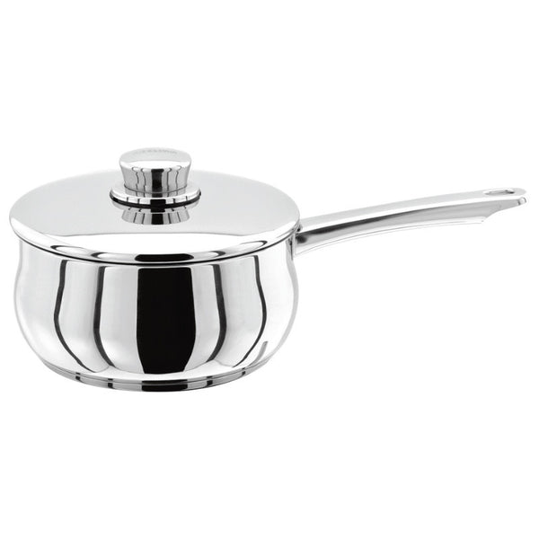 Stellar 1000 S105 Stainless Steel Saucepan With Lid - 16cm