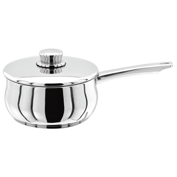Stellar 1000 S106 Stainless Steel Saucepan With Lid - 18cm