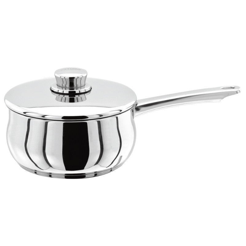 Stellar 1000 S107 Stainless Steel Saucepan With Lid - 20cm