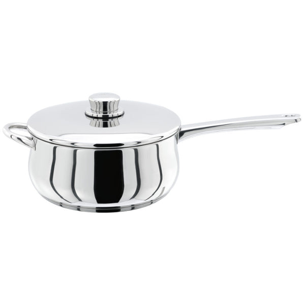 Stellar 1000 S108 Stainless Steel Saucepan with Lid - 22cm