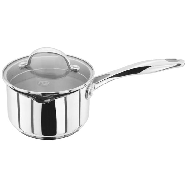 Stellar 7000 14cm Stainless Steel Draining Saucepan 0.8 Litre With Lid