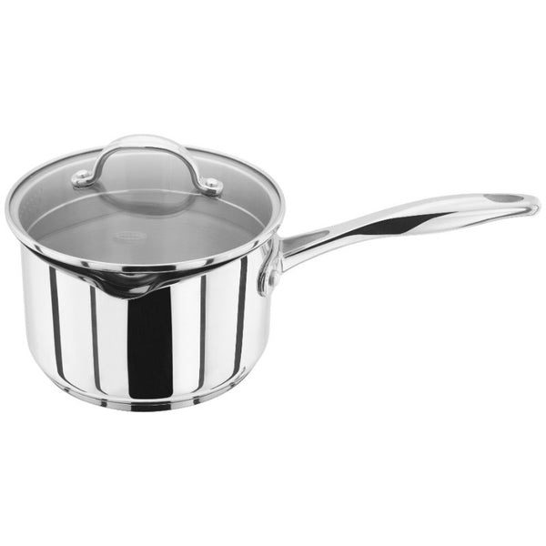 Stellar 7000 16cm Stainless Steel Draining Saucepan 1.6 Litre With Lid