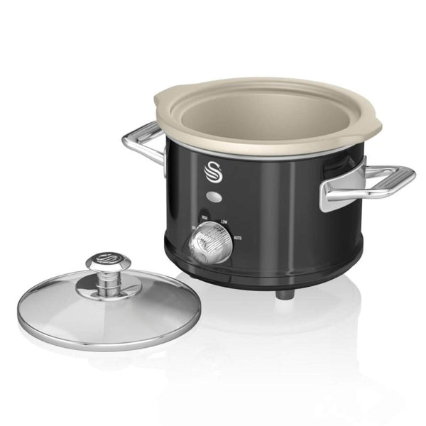 Swan Retro Black Slow Cooker - 1.5 Litre