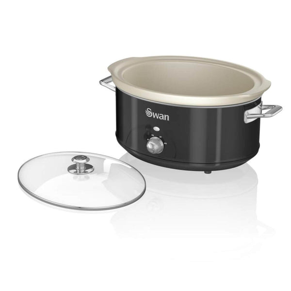 Swan Retro Black Slow Cooker - 6.5 Litre