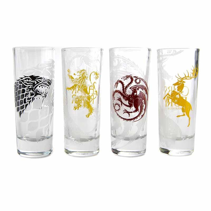 Game of Thrones Sigils Shot Glasses - Set of 4