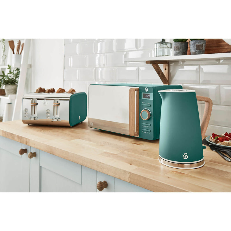 Swan Nordic 1.7 Litre Cordless Kettle - Green