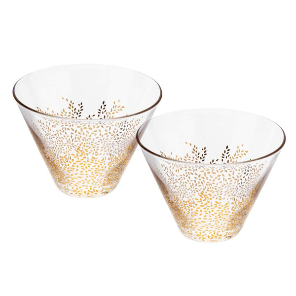 Sara Miller London Chelsea Glass Bowls - Set of 2