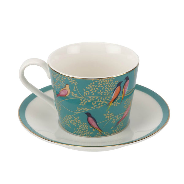 Sara Miller London Chelsea Tea Cup & Saucer - Green