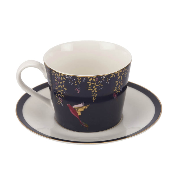 Sara Miller London Chelsea Tea Cup & Saucer - Navy