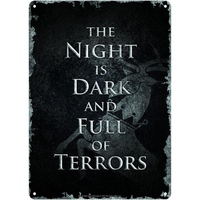 Game of Thrones 'The Night is Dark' Small Tin Sign