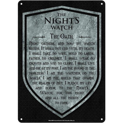 Game of Thrones 'The Night's Watch' Small Tin Sign