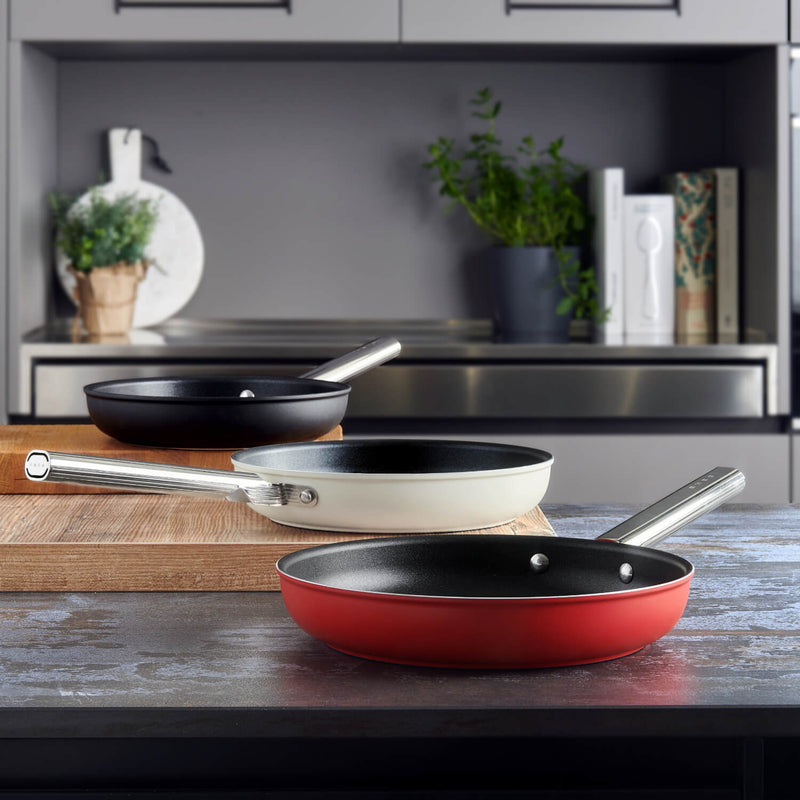 Smeg Cookware 28cm Non-Stick Frying Pan - Red