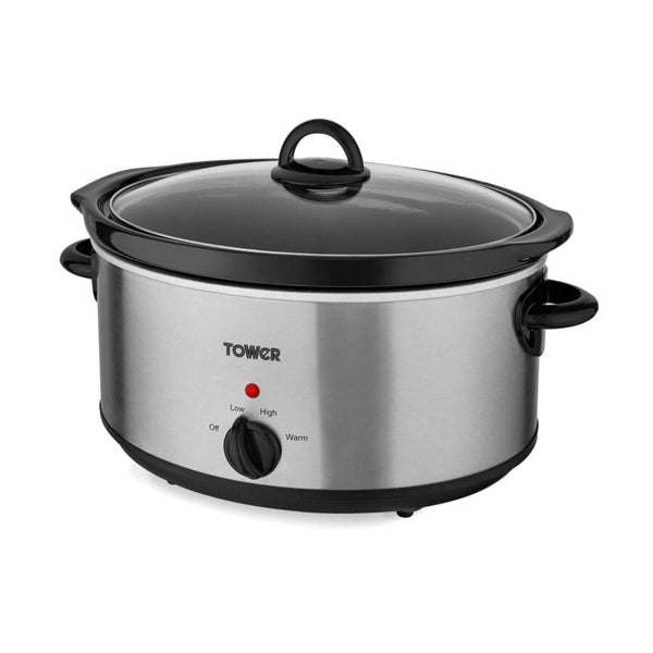 Tower T16029BF Stainless Steel Slow Cooker - 5.5 Litre