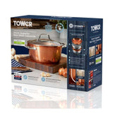 T800015 Tower Forged Aluminium 24cm Copper Casserole Dish - Boxed