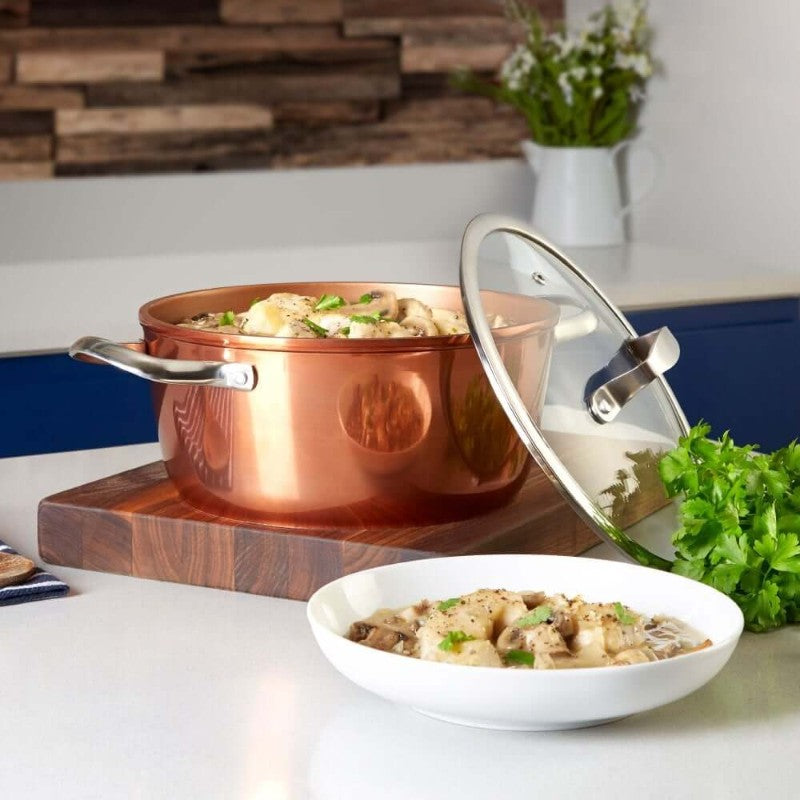 T800015 Tower Forged Aluminium 24cm Copper Casserole Dish - Kitchen Lifestyle