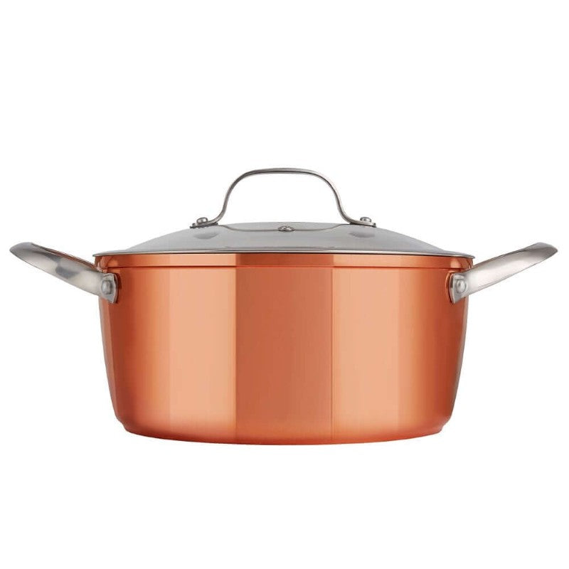 T800015 Tower Forged Aluminium 24cm Copper Casserole Dish - Side View