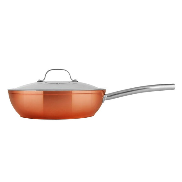 T800016 Tower Forged Aluminium 28cm Copper Multi-Pan - Side View