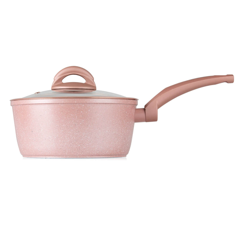 Tower CeraStone 3 Piece Saucepan Set - Rose Gold