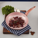 Tower CeraStone 24cm Frying Pan - Rose Gold