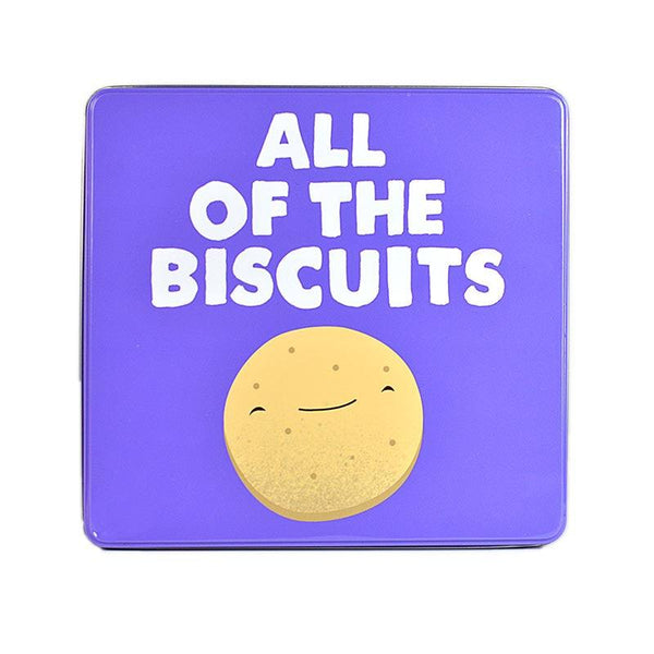 Jolly Awesome 'All of The Biscuits' Embossed Tin