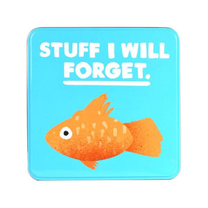Jolly Awesome 'Stuff I Will Forget' Goldfish Storage Tin