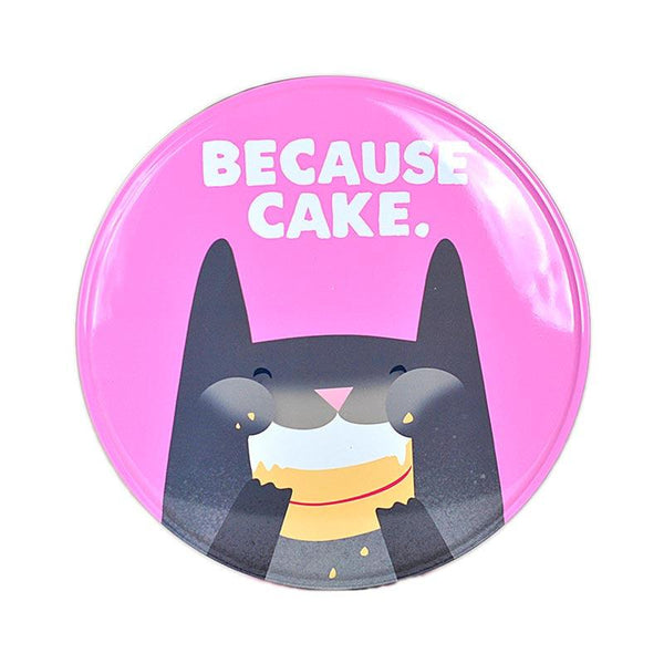 Jolly Awesome 'Because Cake' Cat Storage Tin