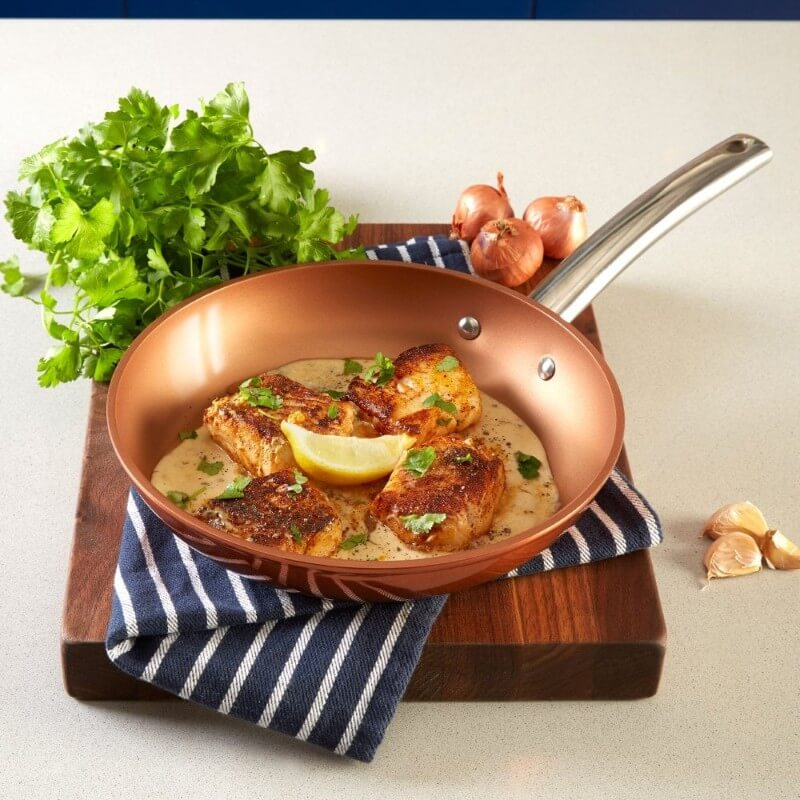Tower Forged Aluminium Copper Frying Pan Lifestyle