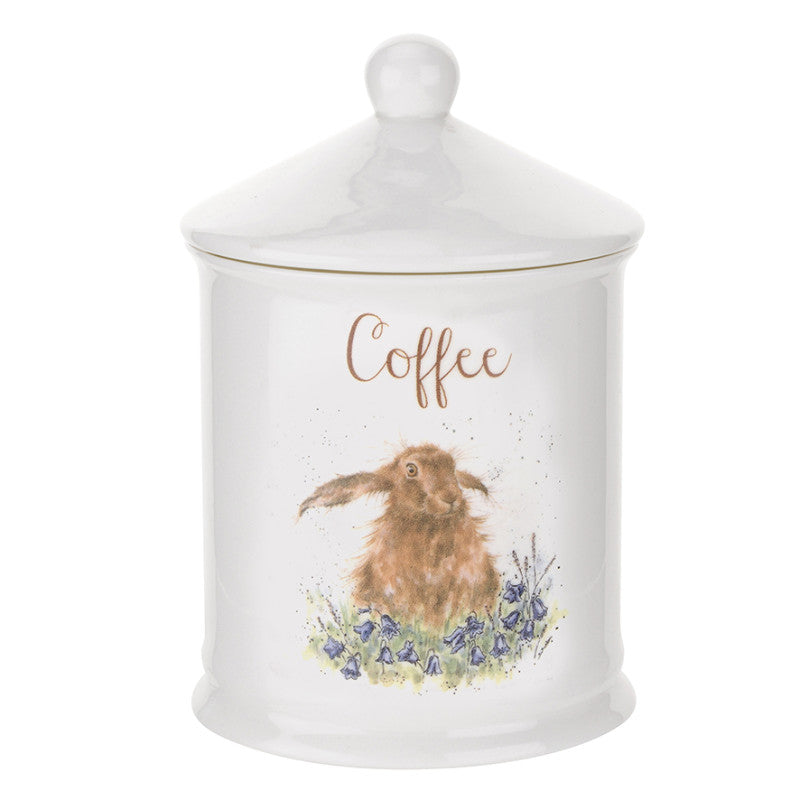 Royal Worcester Wrendale Hare Illustrated Coffee Canister