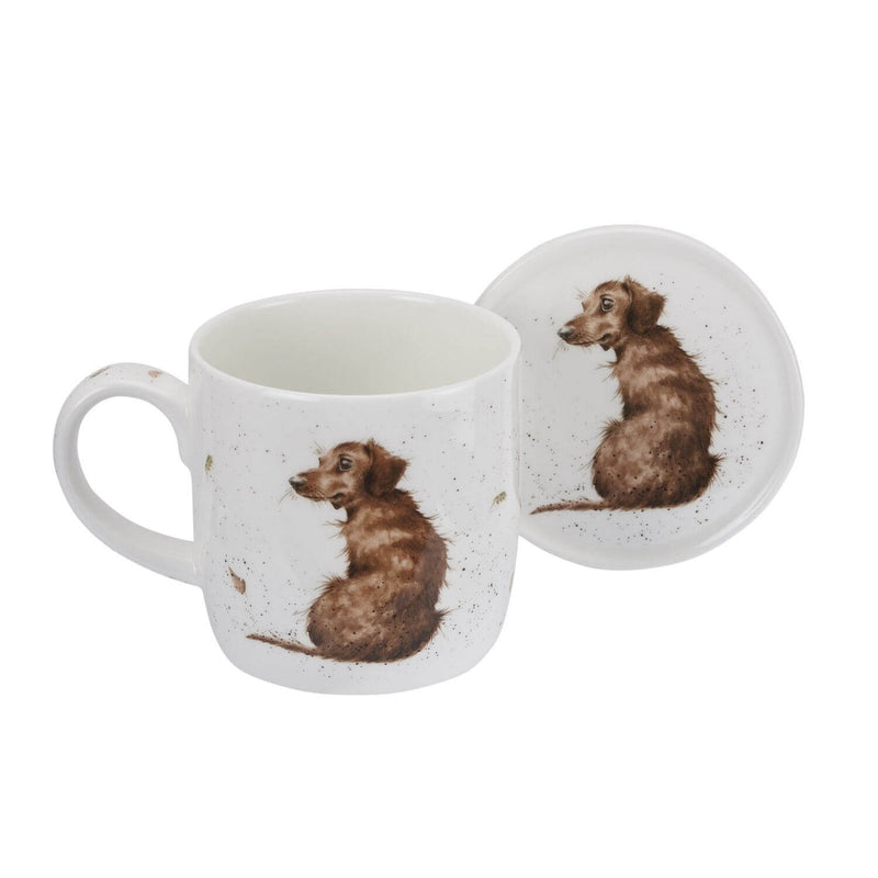 Wrendale Designs Mug & Coaster - Hello Sausage