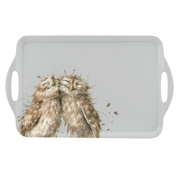 Wrendale Owl Illustrated 48cm Melamine Serving Tray