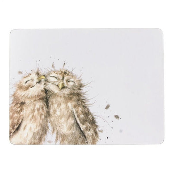 Wrendale Owl Illustrated 6 Piece Placemats