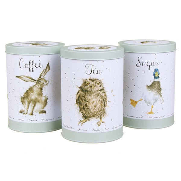 Wrendale The Country Illustrated Canisters - Set of 3