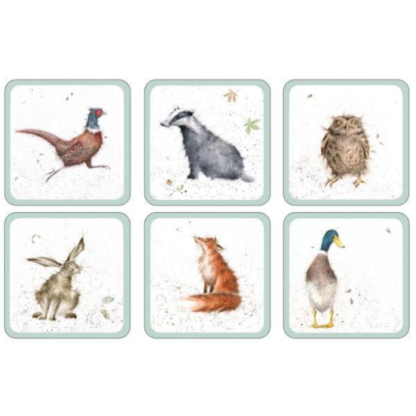 Wrendale Animal Illustrated 6 Piece Coasters