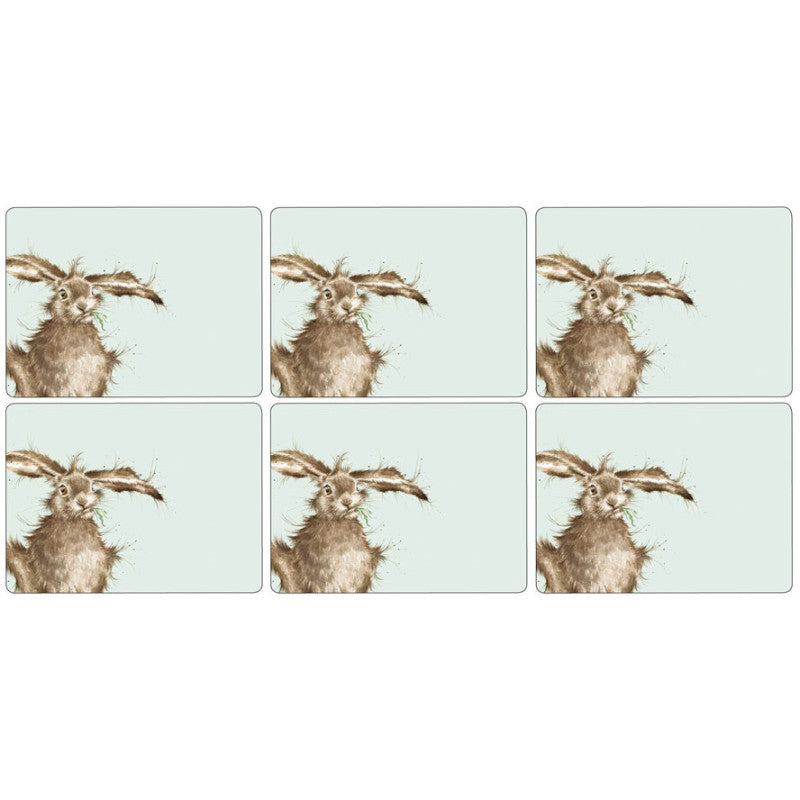 Wrendale Designs Hare Placemats - Set of 6