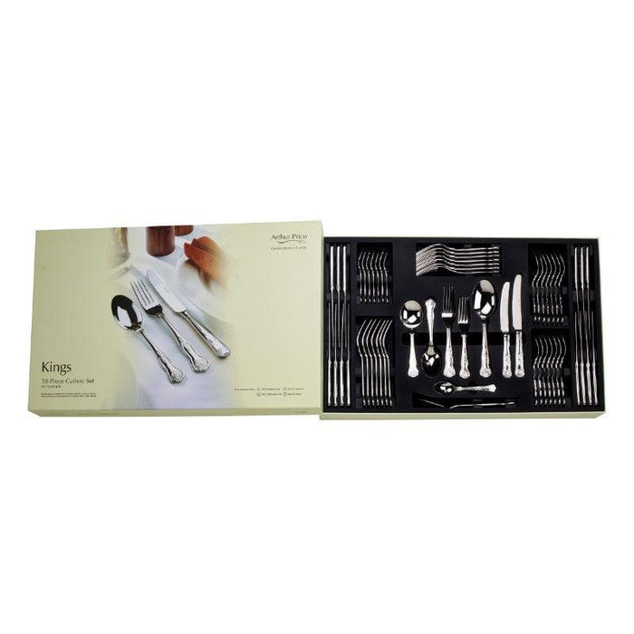 Arthur Price Kings Cutlery Set - 58 Piece
