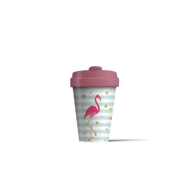 BambooCup 'Flamingo' Travel Mug - 400ml
