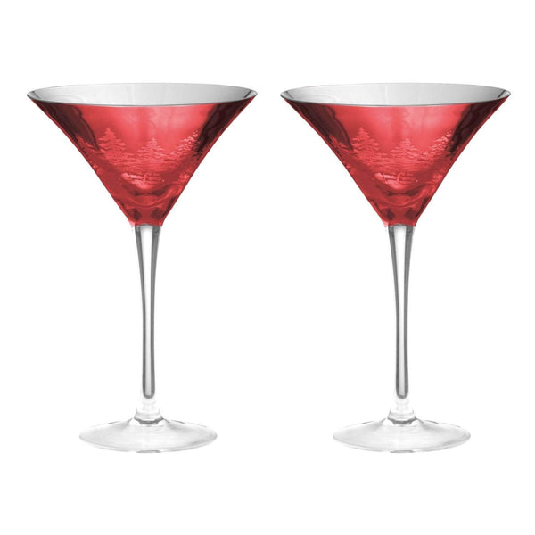 Artland Alpine Martini Glasses Red - Set of 2