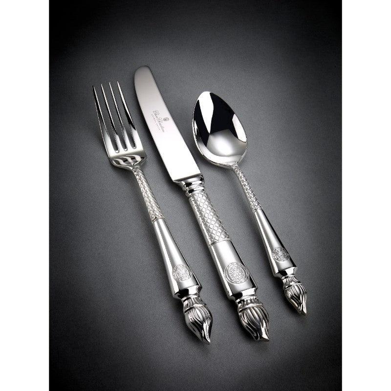 Arthur Price Clive Christian Empire Flame All Silver Dessert Fork Lifestyle