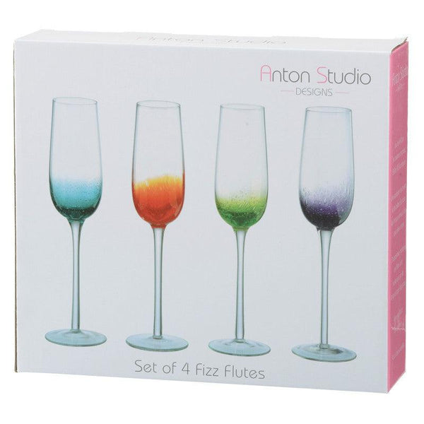 Anton Studio Fizz Flute Glasses - Set of 4