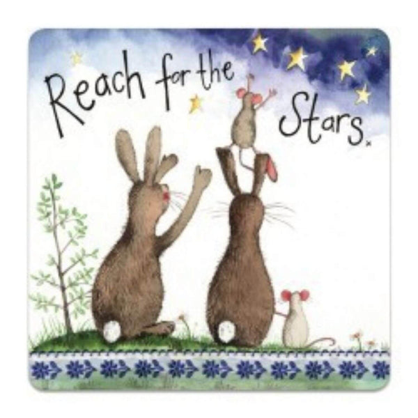 Alex Clark Coaster - Reach For The Stars Rabbit