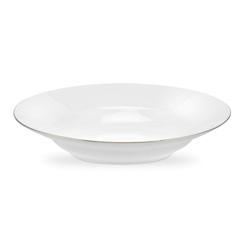 Royal Worcester Serendipity Platinum White Soup Plate - 23.5cm