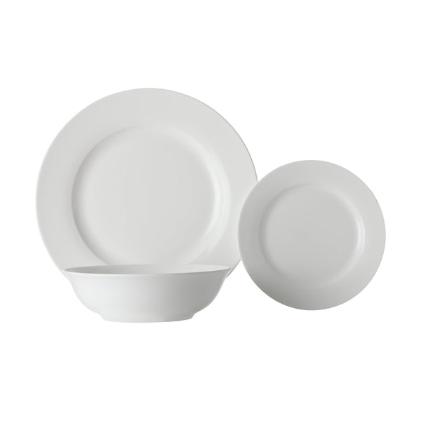 Maxwell & Williams White Basics 12 Piece Rim Dinner Set